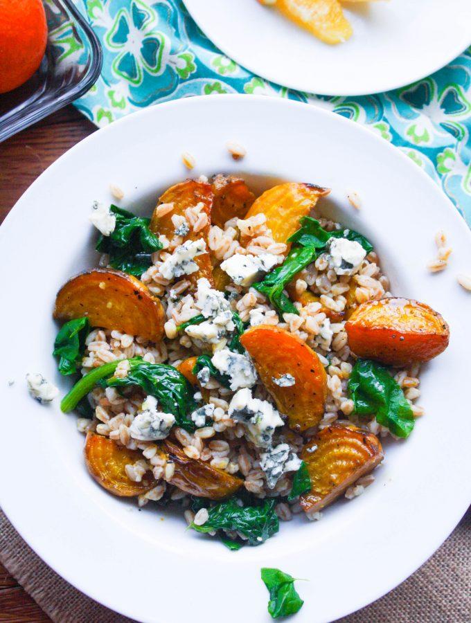 Roasted Beet & Farro Salad