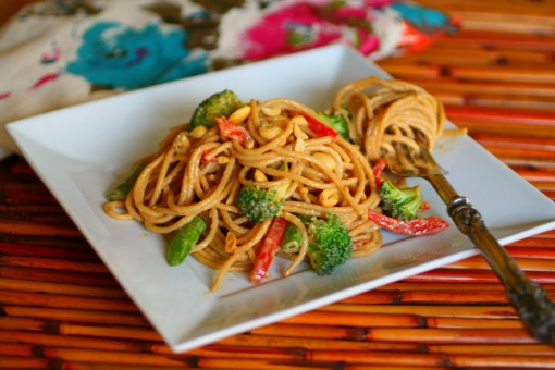 ... this recipe for Cold Sesame-peanut Noodle Salad really hits the spot