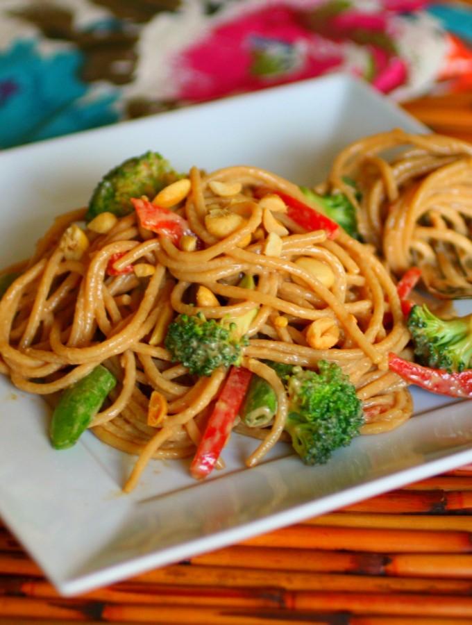 1_Cold sesame-peanut Noodle Salad