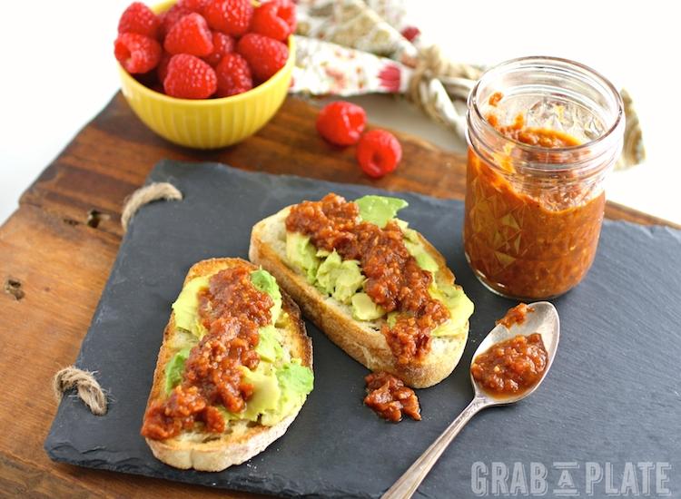 Tomato-Bacon Jam with Avocado Toast