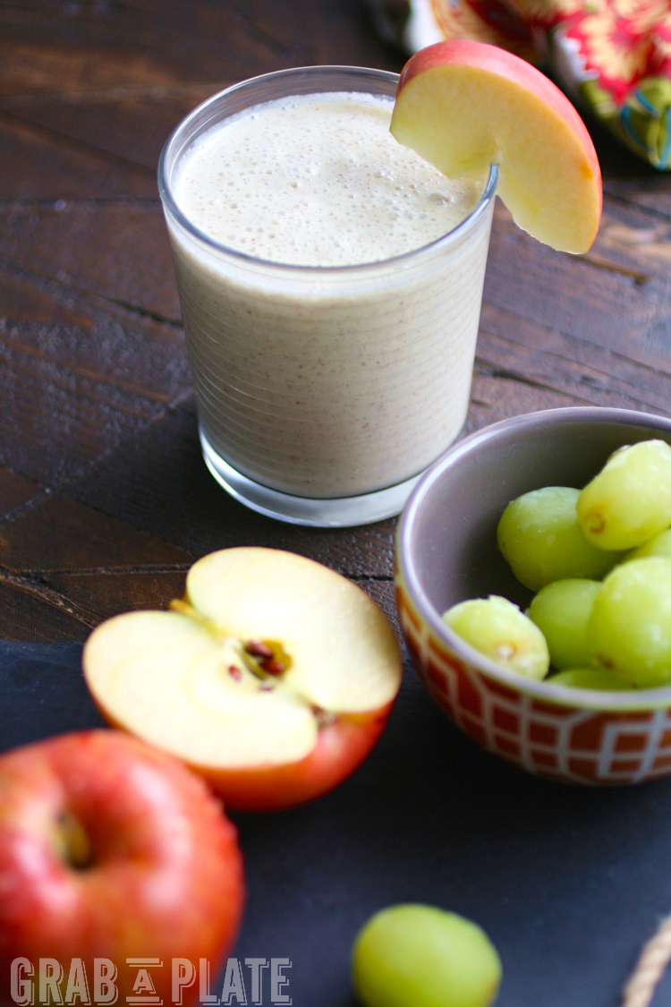 Perfect in the a.m. or p.m., Green Grape, Apple, and Cinnamon Smoothies taste great and are easy to make!