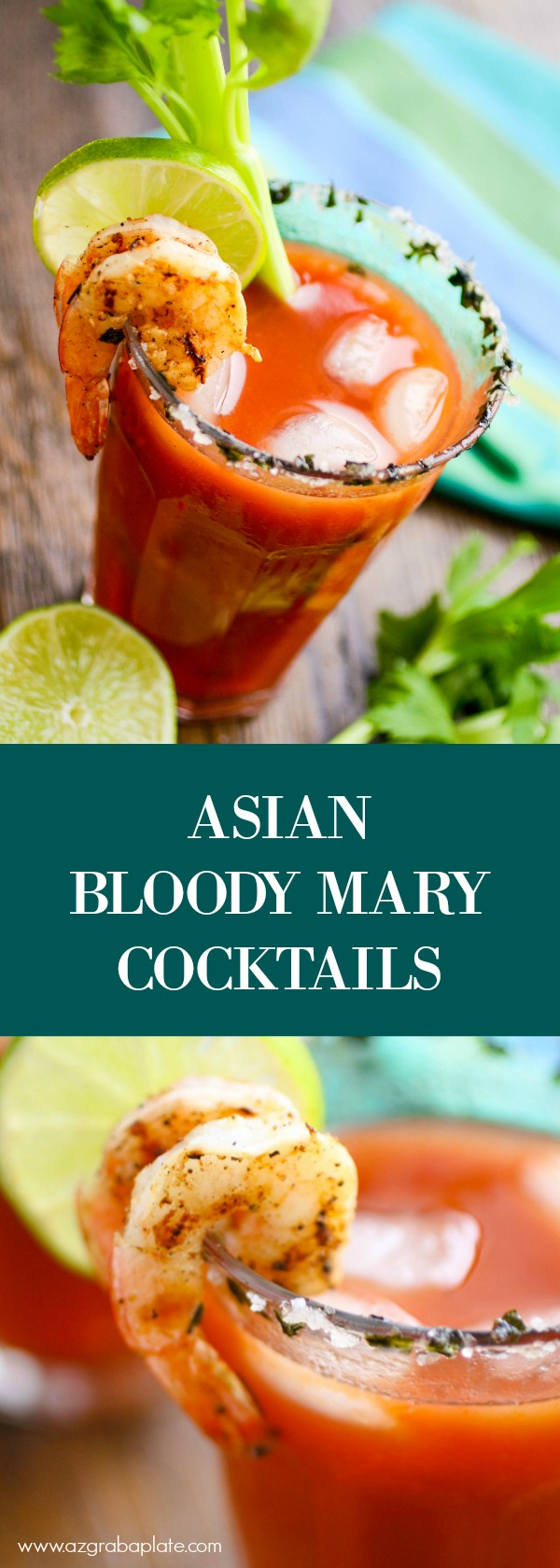 Asian Bloody Mary Cocktails are a fun cocktail to whip up for brunch. Your guests will love them!