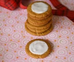 Lemon Iced Gingersnap Cookies (gluten free)