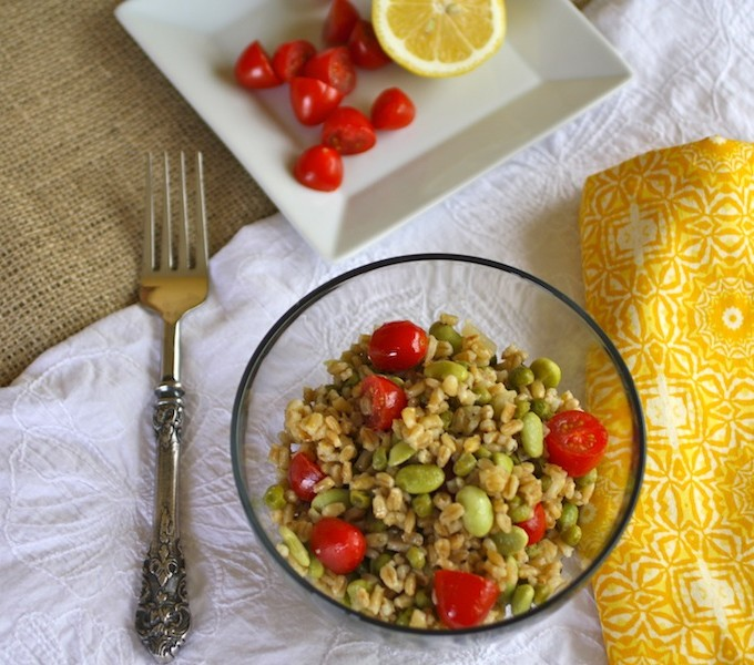 Spring Barley Salad with Lemony Dressing