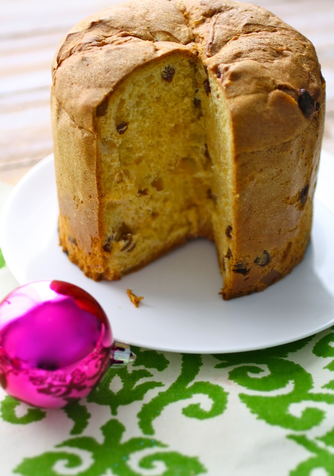 Panettone cake ready for French Toast