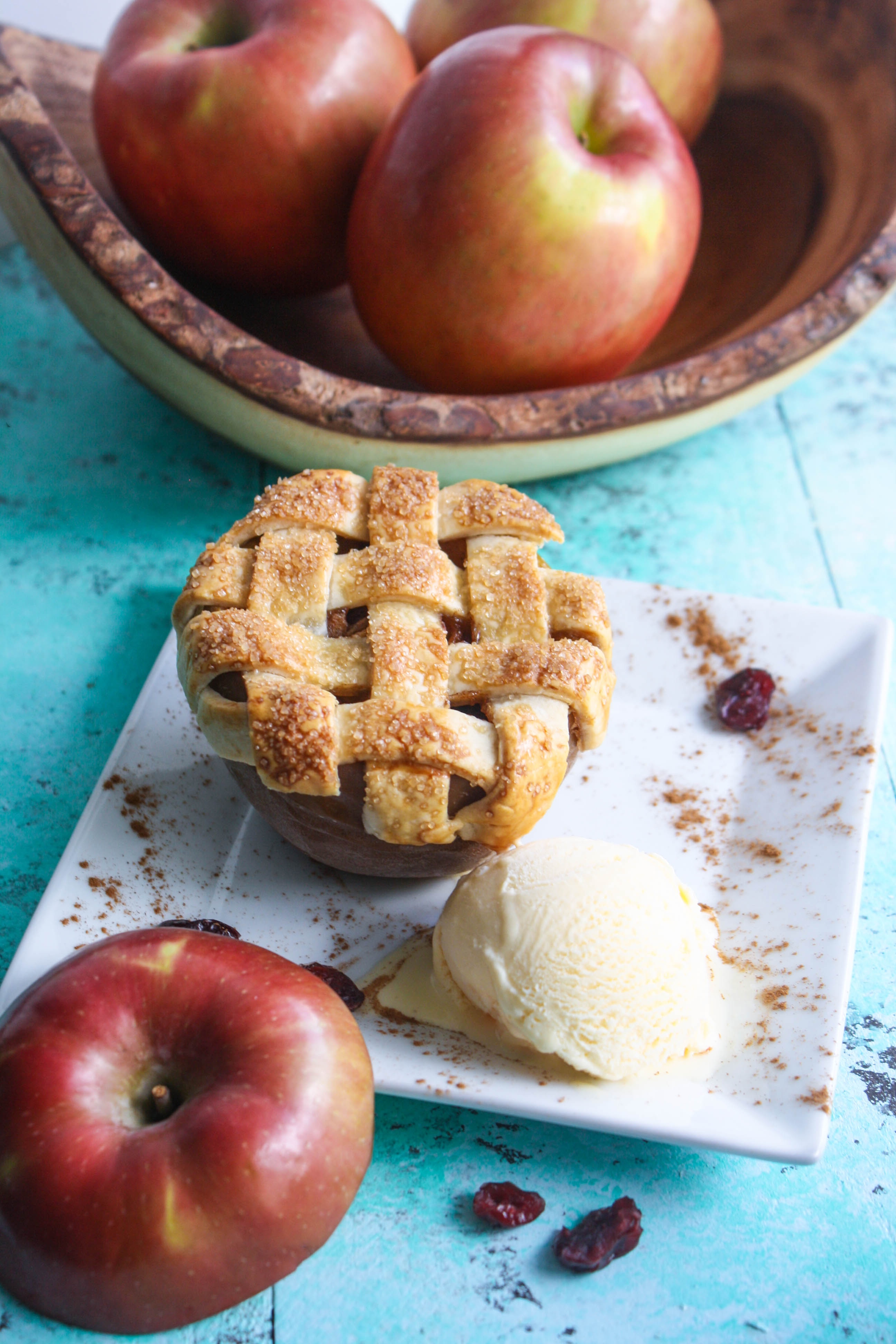 Apple-Cranberry Pie Baked Apples are a lovely treat for fall. These individual desserts are healthier than many, and taste amazing.