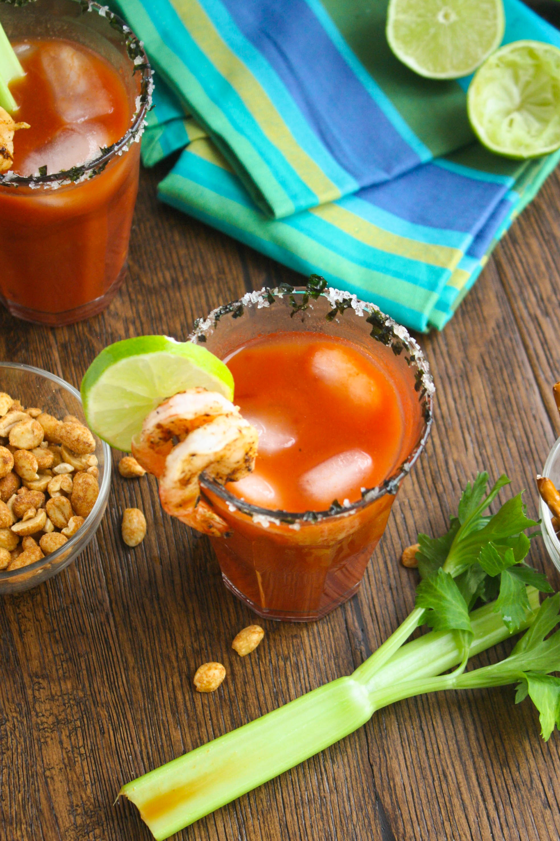 Asian Bloody Mary Cocktails are a fun way to celebrate with friends. They're great to serve for brunch or for any sort of get together -- think tailgate party!