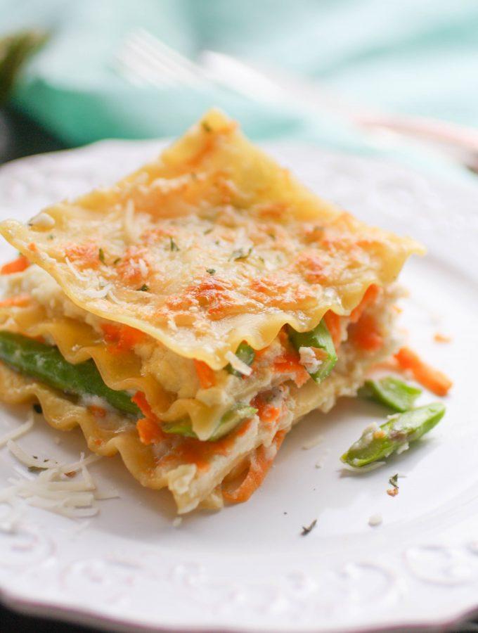 Asparagus and Sweet Potato Lasagna