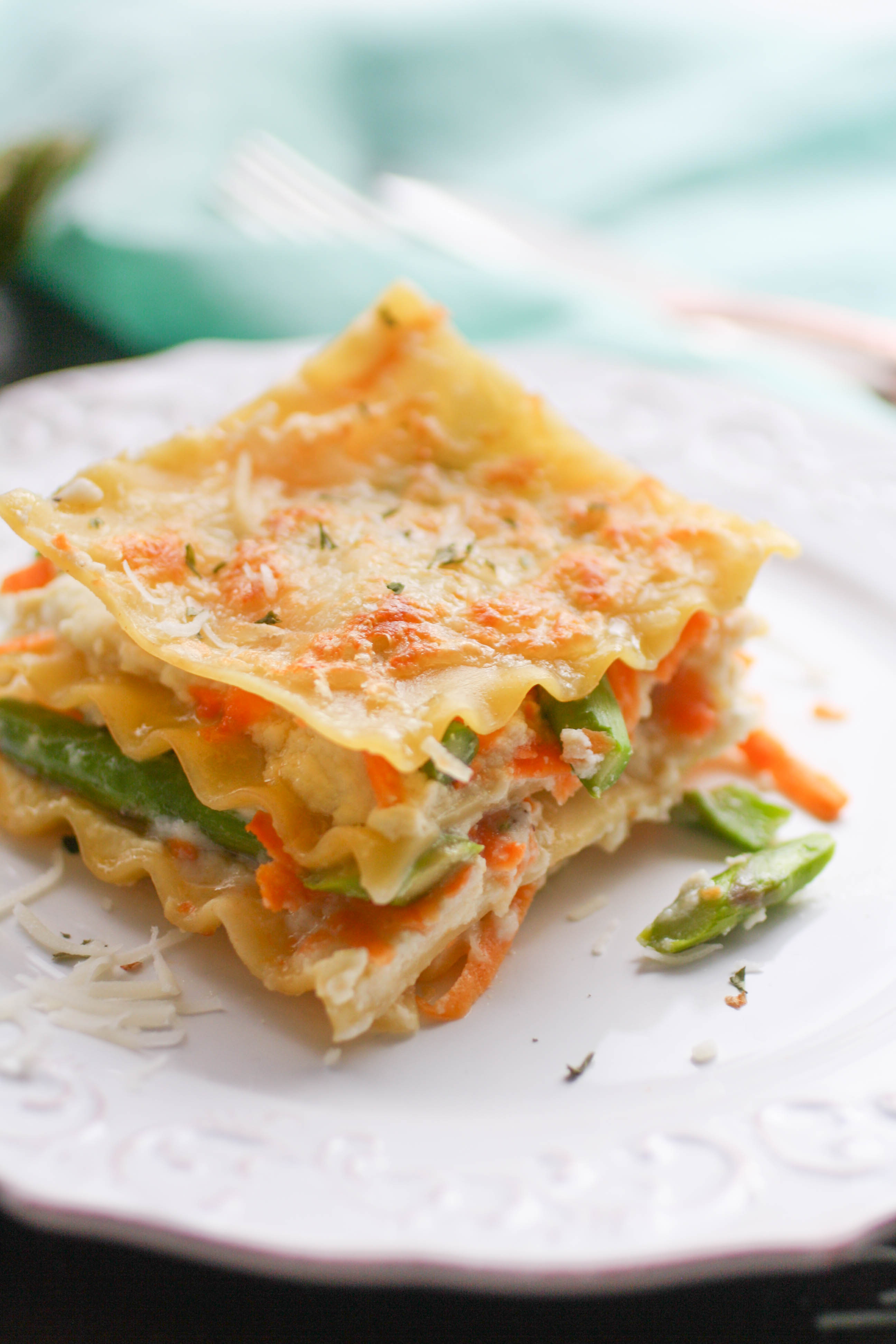 Asparagus and Sweet Potato Lasagna is a colorful and creamy dish you'll love for any meal! Asparagus and Sweet Potato Lasagna is perfect for your next dinner!