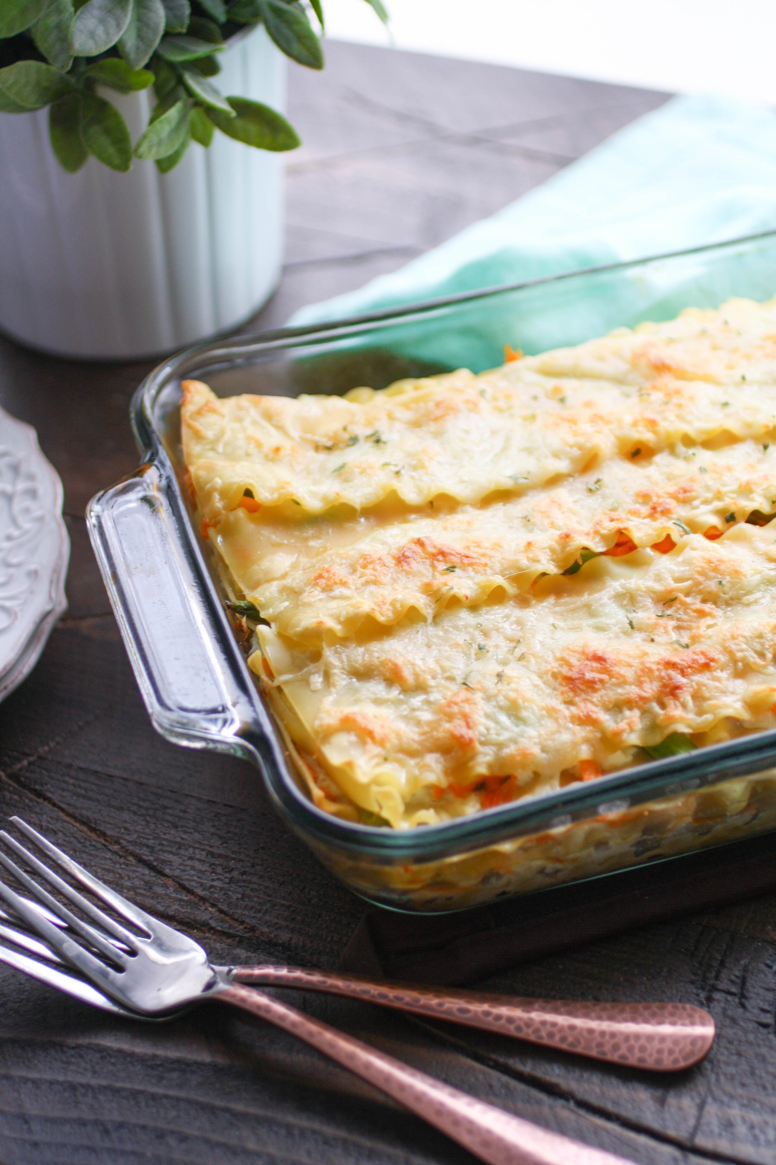 Asparagus and Sweet Potato Lasagna is a dish you should make soon. You'll love how creamy and flavorful this Asparagus and Sweet Potato Lasagna is!