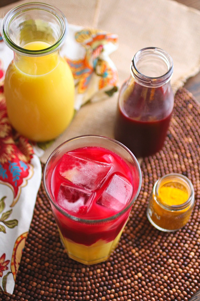 Beet & Orange Juice Morning Sunrise is the perfect a.m. drink. It's so pretty and flavorful.
