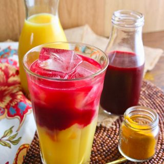 Beet & Orange Juice Morning Sunrise is a beautiful breakfast drink. You'll love the flavors!