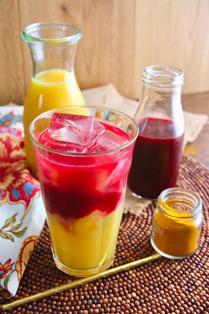 Beet & Orange Juice Morning Sunrise is a beautiful breakfast drink. You'll love the flavors!