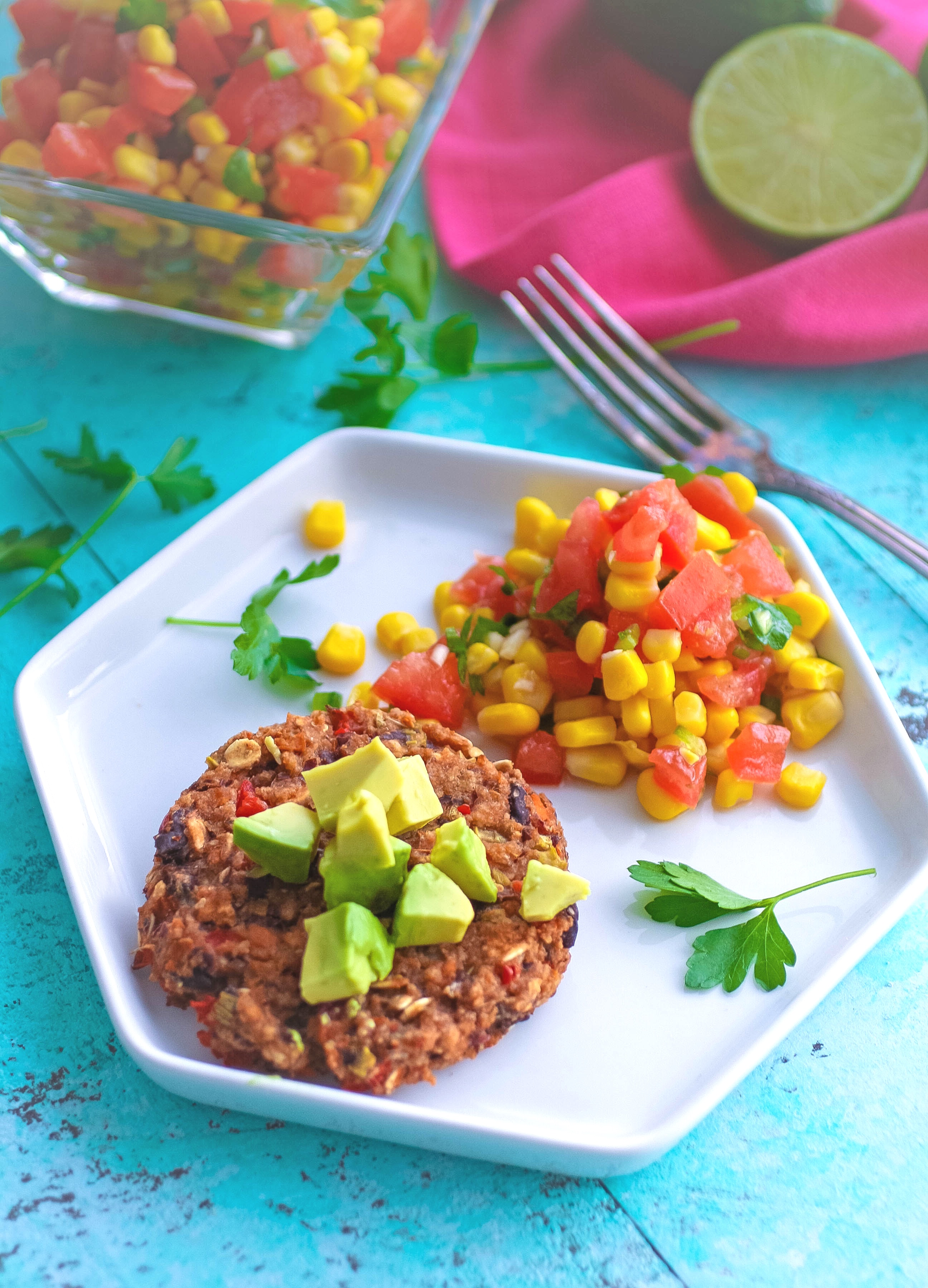 Black Bean Veggie Burgers with Corn Salsa should be on the menu soon! You'll love Black Bean Veggie Burgers with Corn Salsa as your next meatless meal!