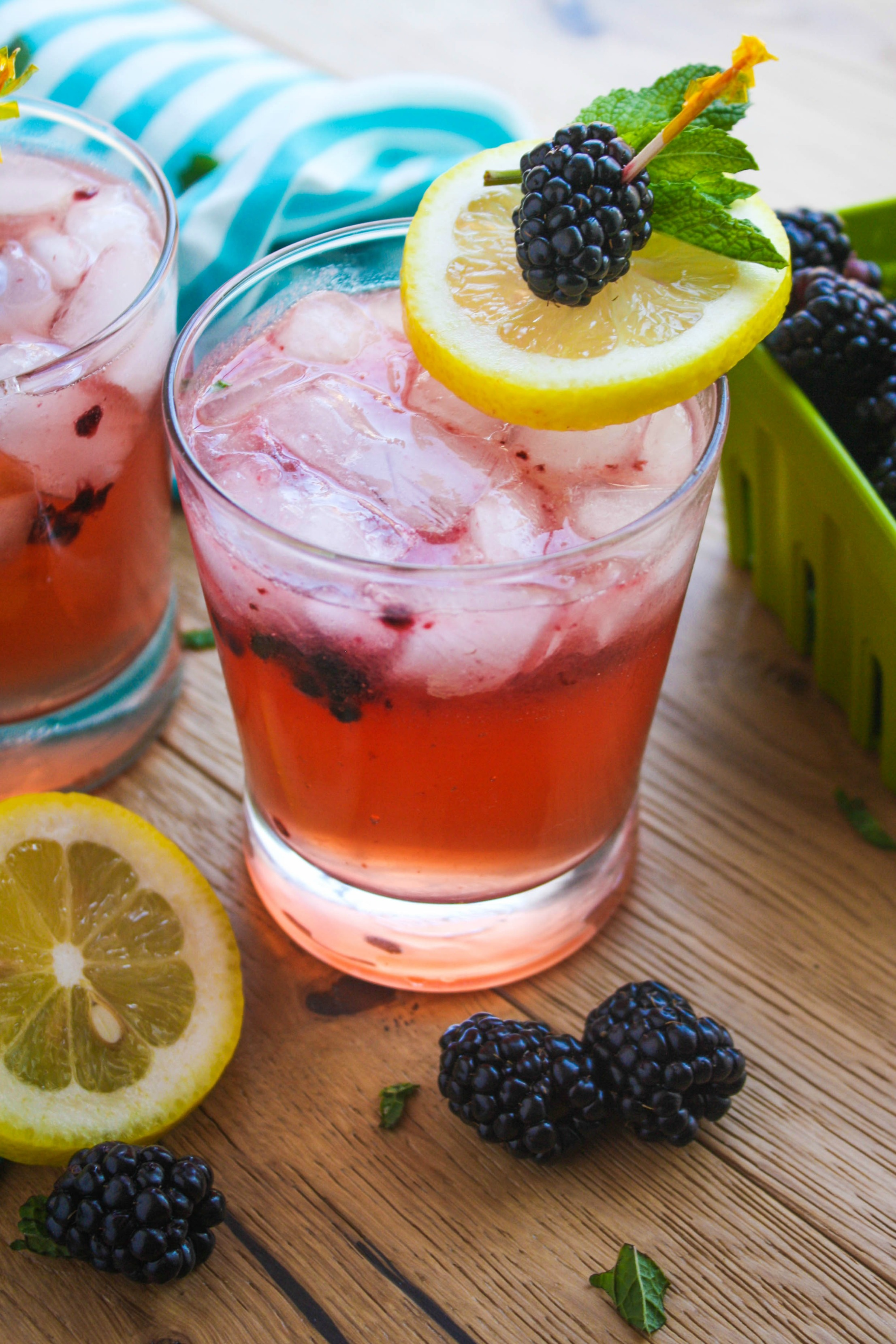 Blackberry Buck Cocktail is a fun drink for the warm weather. The blackberries add great color and flavor!