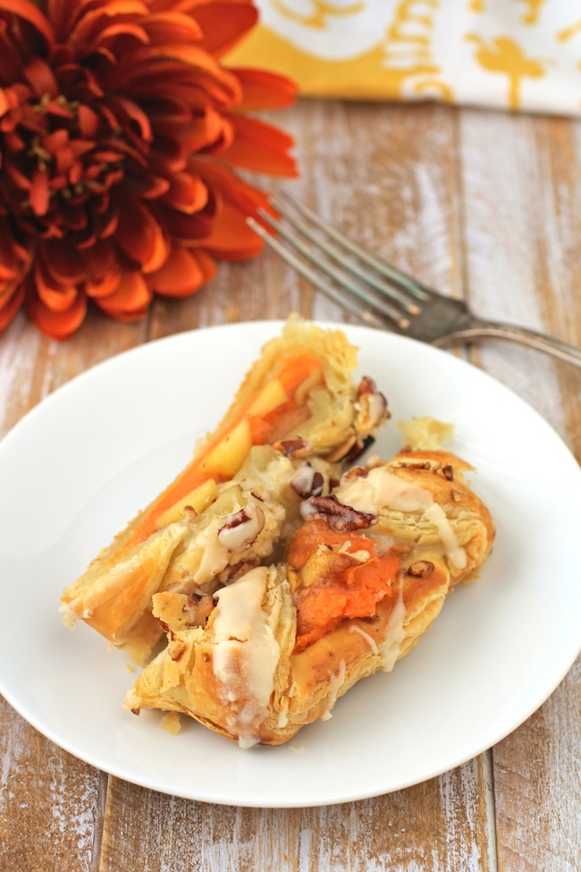 Dig in to a few slices of Apple and Sweet Potato Pastry Braids