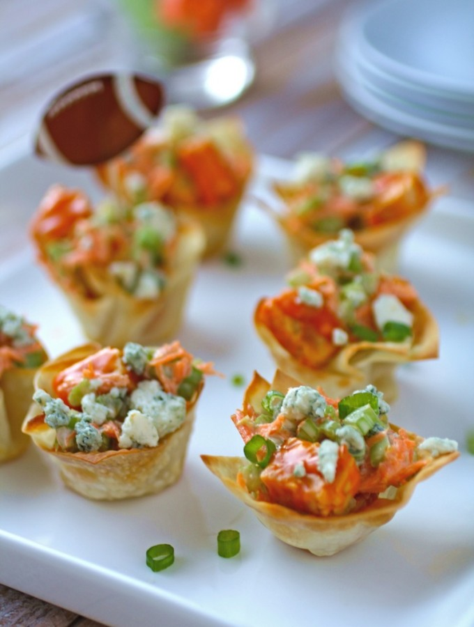 Delight in Buffalo Tempeh Wonton Cups