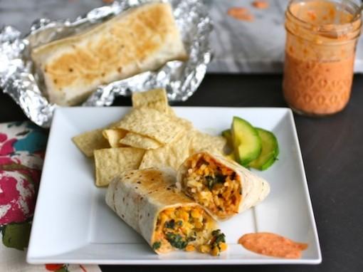 Lentil & Kale Burritos