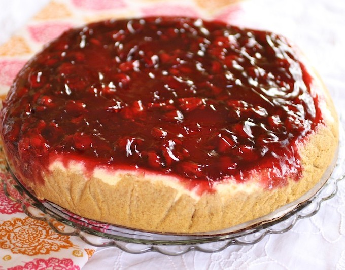 A cheesecake, right at my front door, via FoodyDirect