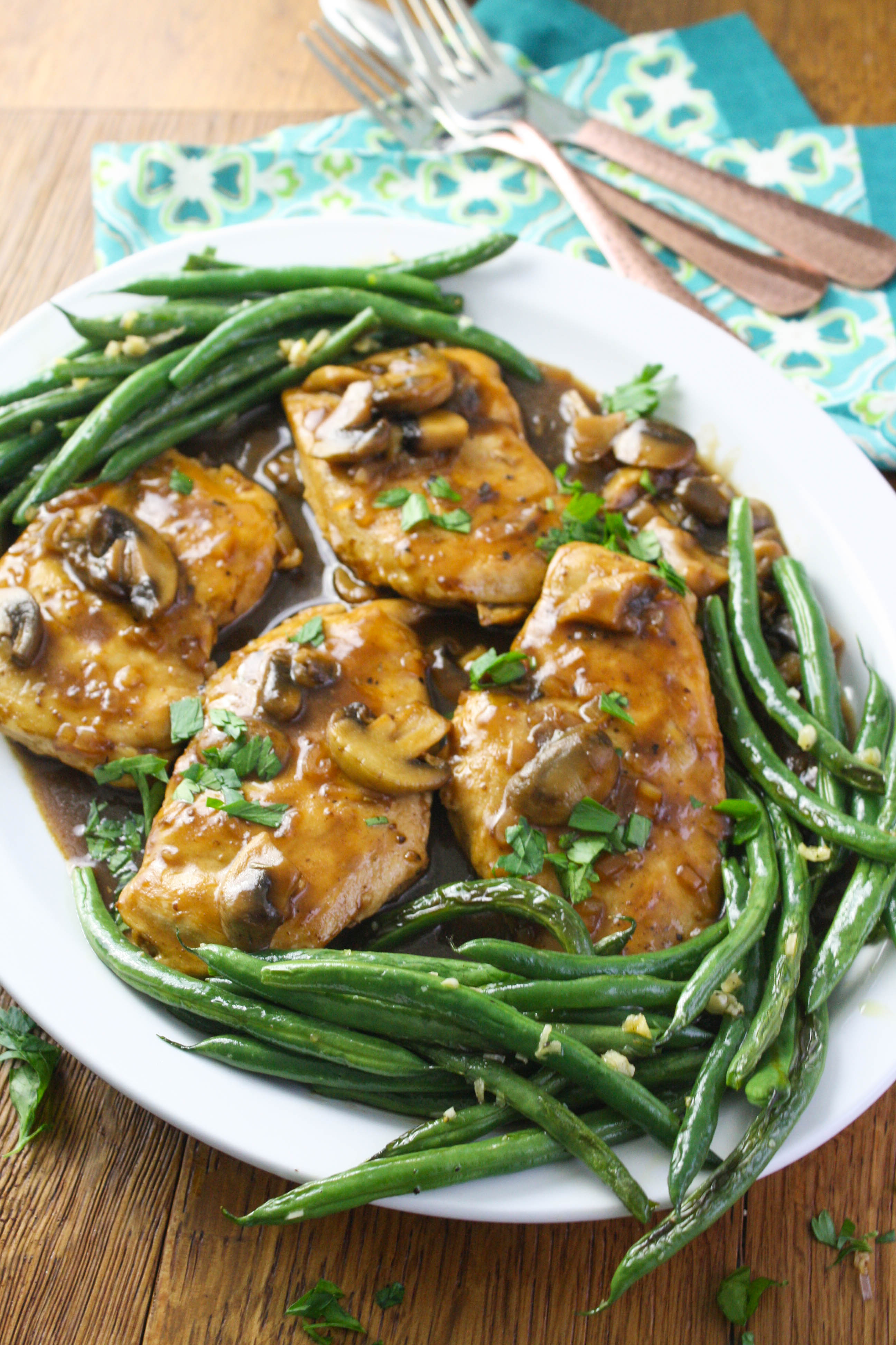 Chicken Madeira is saucy, rich and flavorful. This chicken dish makes a lovely meal with its rich flavors.