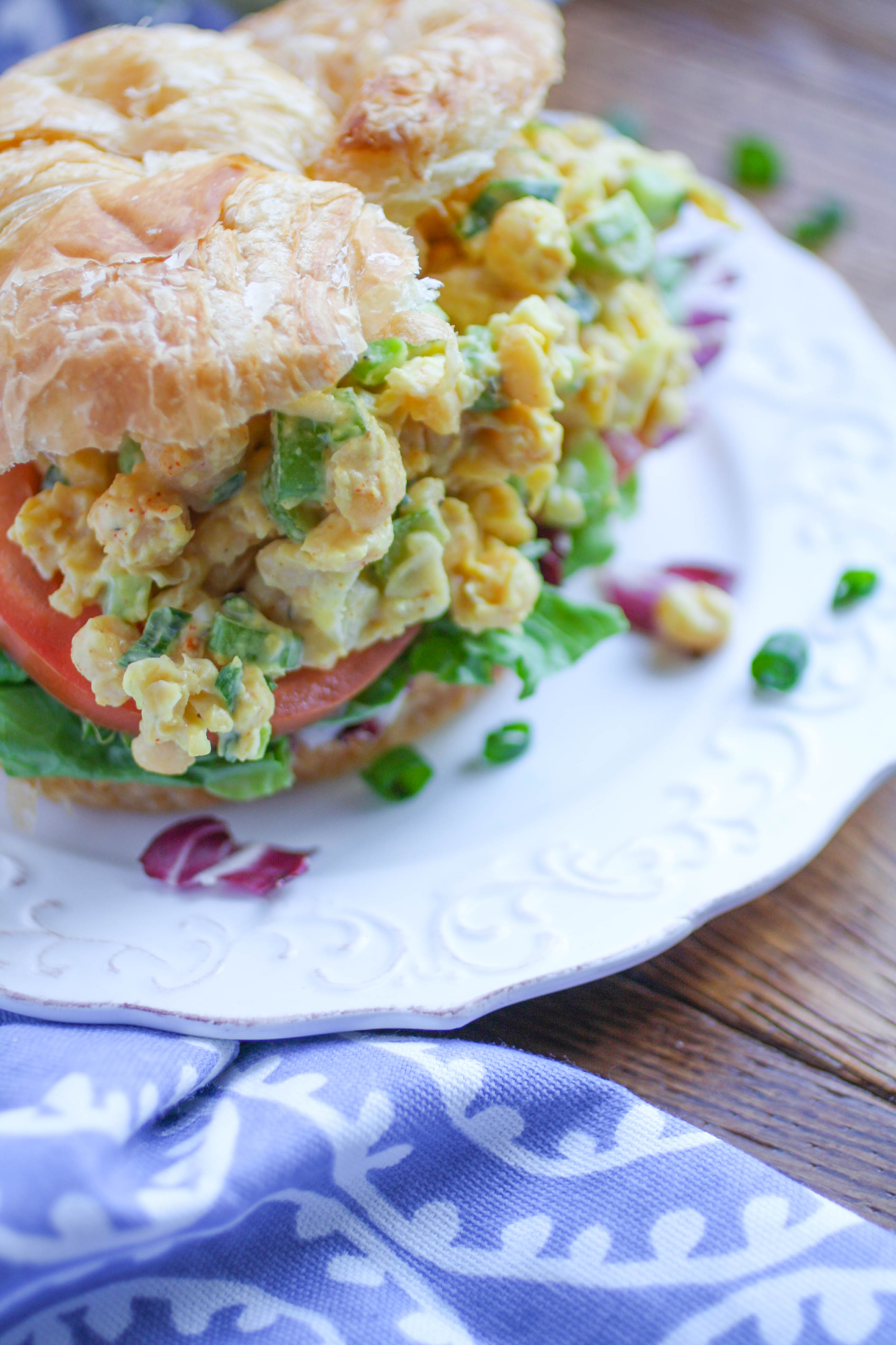 Chickpea Salad Sandwiches are great for lunch, for for a special event like a baby shower! You'll love these flavorful, filling vegetarian sandwiches.