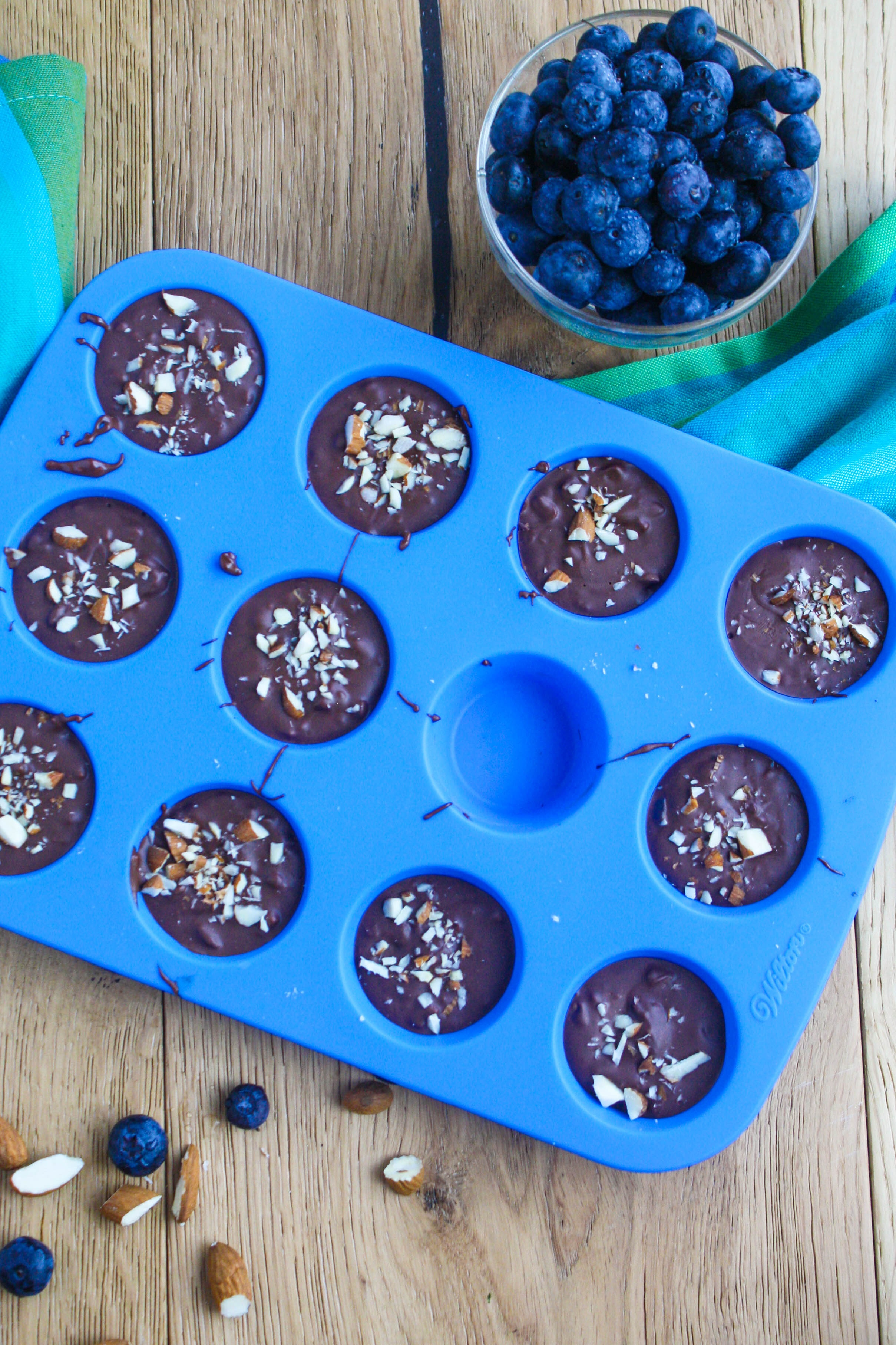 Chocolate Almond Blueberry Bites are a fun candy to make. They're so tasty for a great treat!