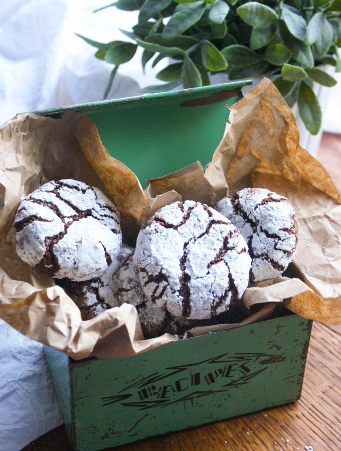 Chocolate-Chili Crinkle Cookies