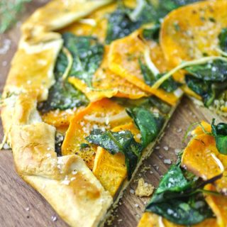 Sweet Potato and Spinach Galette is a fabulous way to make a meal out of what you have on hand!