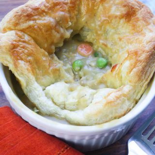 Easy Puffy Pastry Vegetable Pot Pies are pure comfort food. You'll love that these puff pastry vegetarian pot pies are so easy to make!