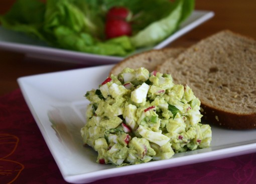 Dig in to a plate of Avocado Egg Salad