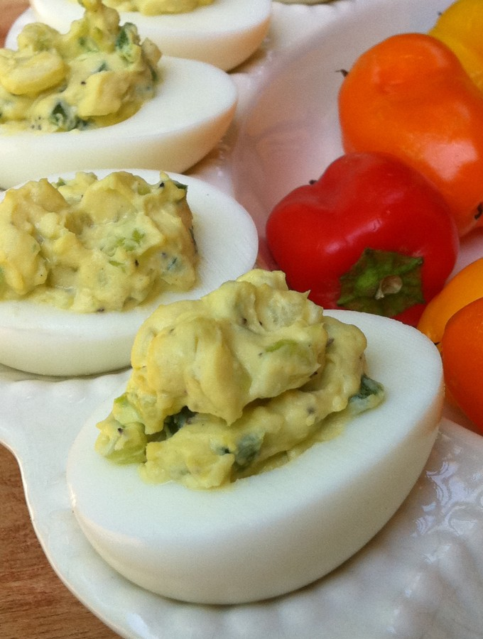 Jalapeño Deviled Eggs recipe