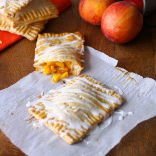 "Fresh Peach Pie ""Pop Tarts"" are a fun treat! Homemade is always best!"
