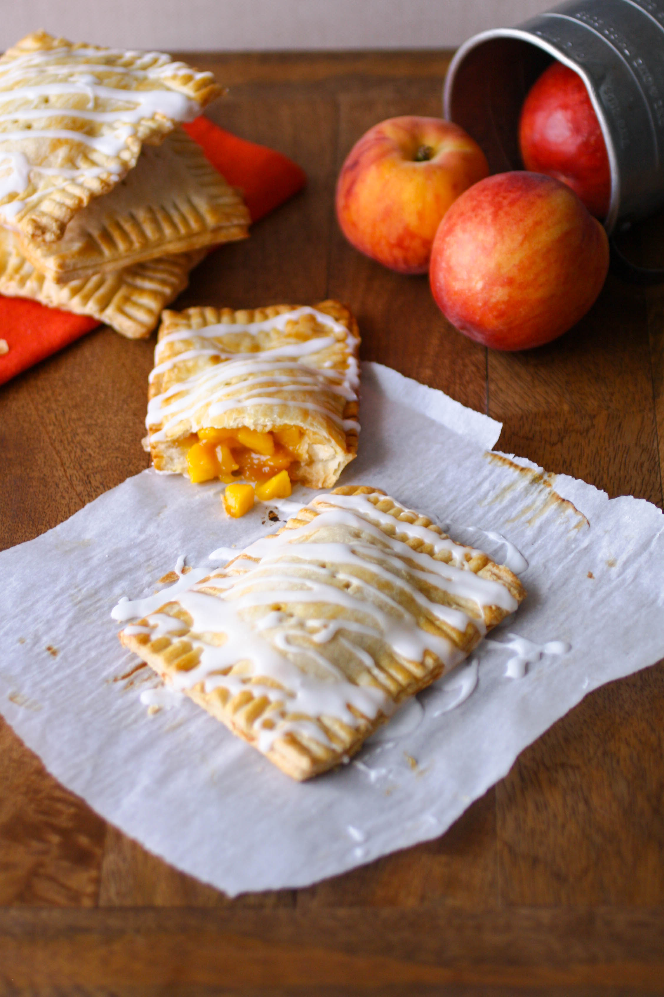 "Fresh Peach Pie ""Pop Tarts""  are a fun treat! Homemade is always best!"