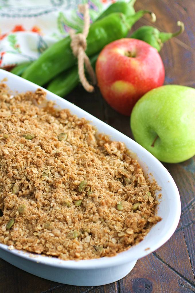 This dessert -- Apple and Hatch Chile Crisp -- offers a delicious dessert you'll enjoy!