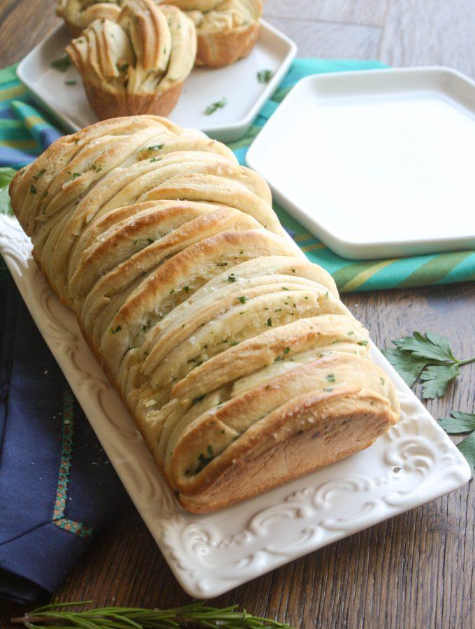 Garlic & Herb Pull Apart Bread
