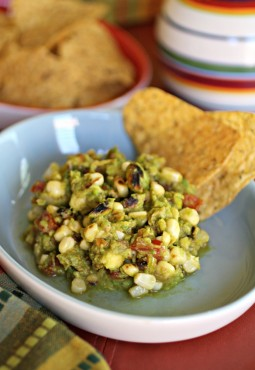 Grilled Guacamole with Pistachios