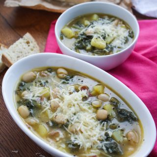 Hearty Escarole Soup with Pancetta is a hearty dish for the fall. You'll love how easy it is to make this soup!