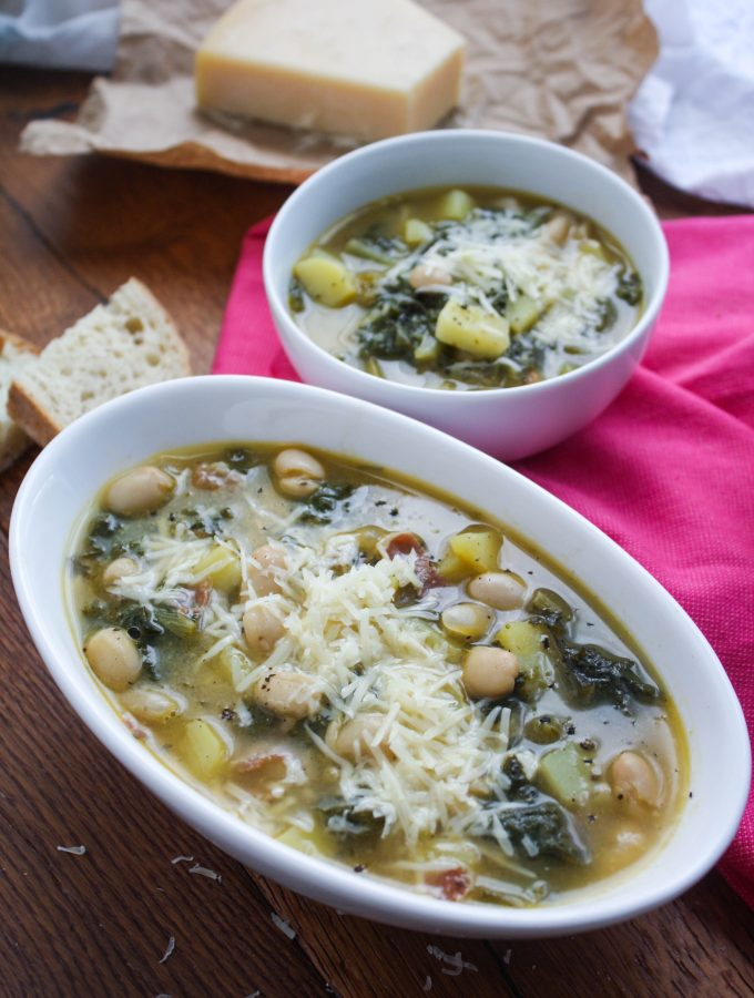 Hearty Escarole Soup with Pancetta