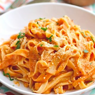 Homemade Pasta (Without a Machine) with Vodka Sauce is a lovely meal.