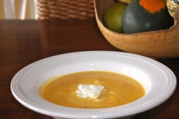 Creamy curried butternut squash and cauliflower soup