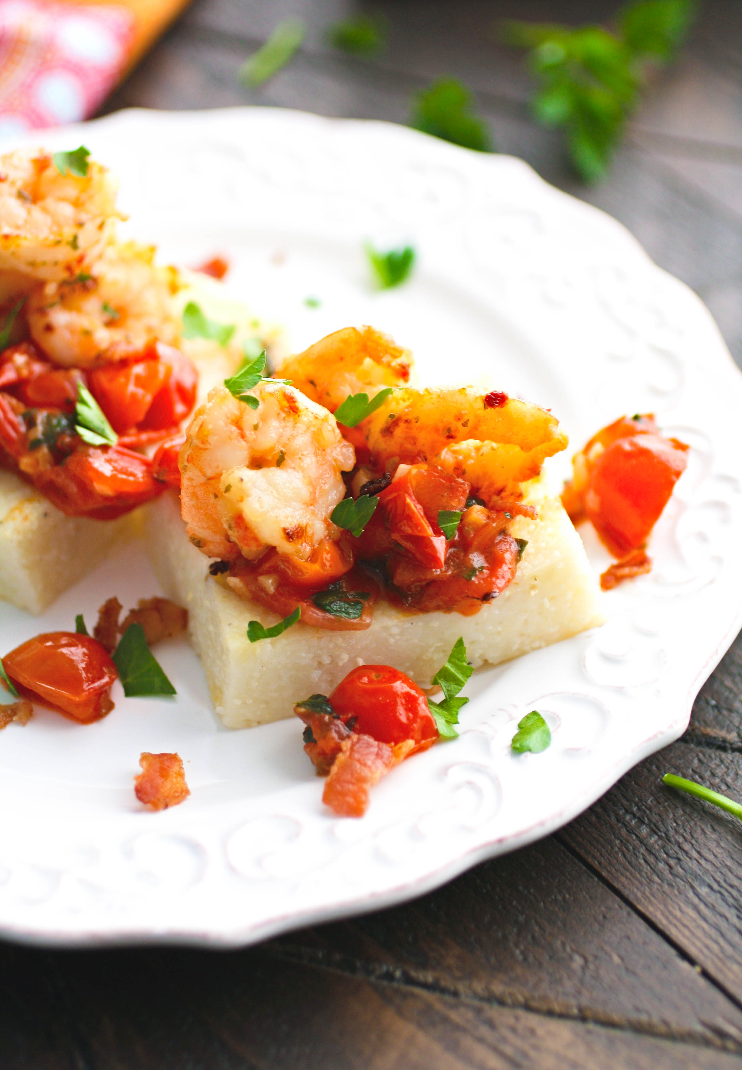 Enjoy a coastal favorite! These Individual Cheesy Shrimp & Grits are so tasty for a special meal!