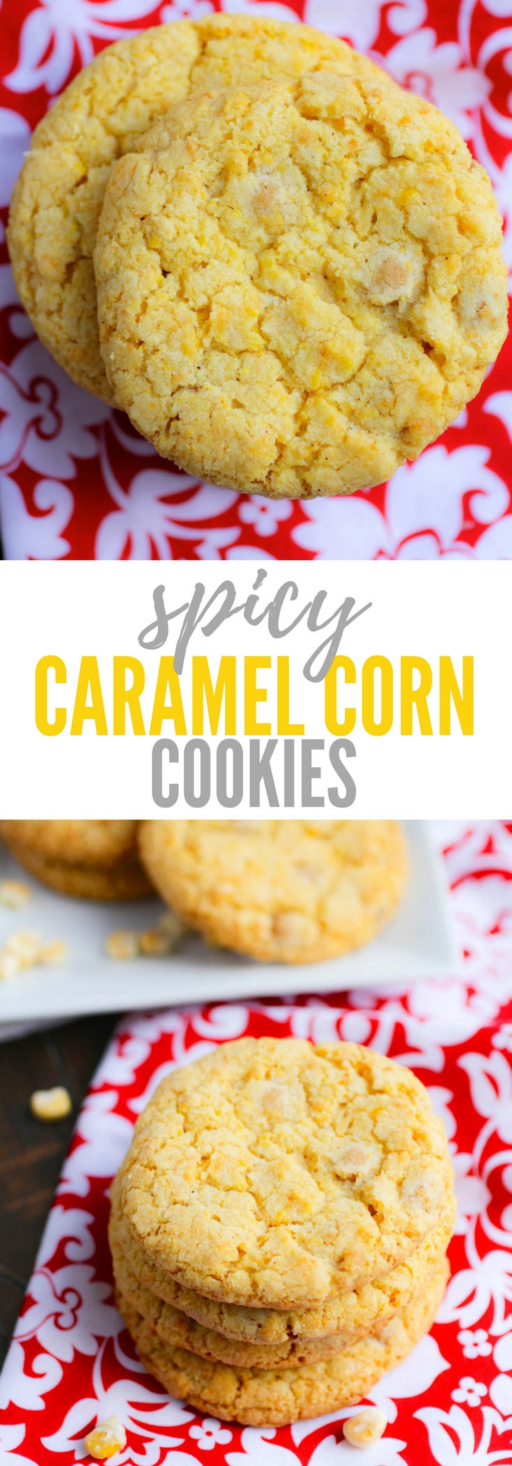 Spicy Caramel Corn Cookies are a fun treat as dessert. You'll love these unusually delicious Spicy Caramel Corn Cookies.