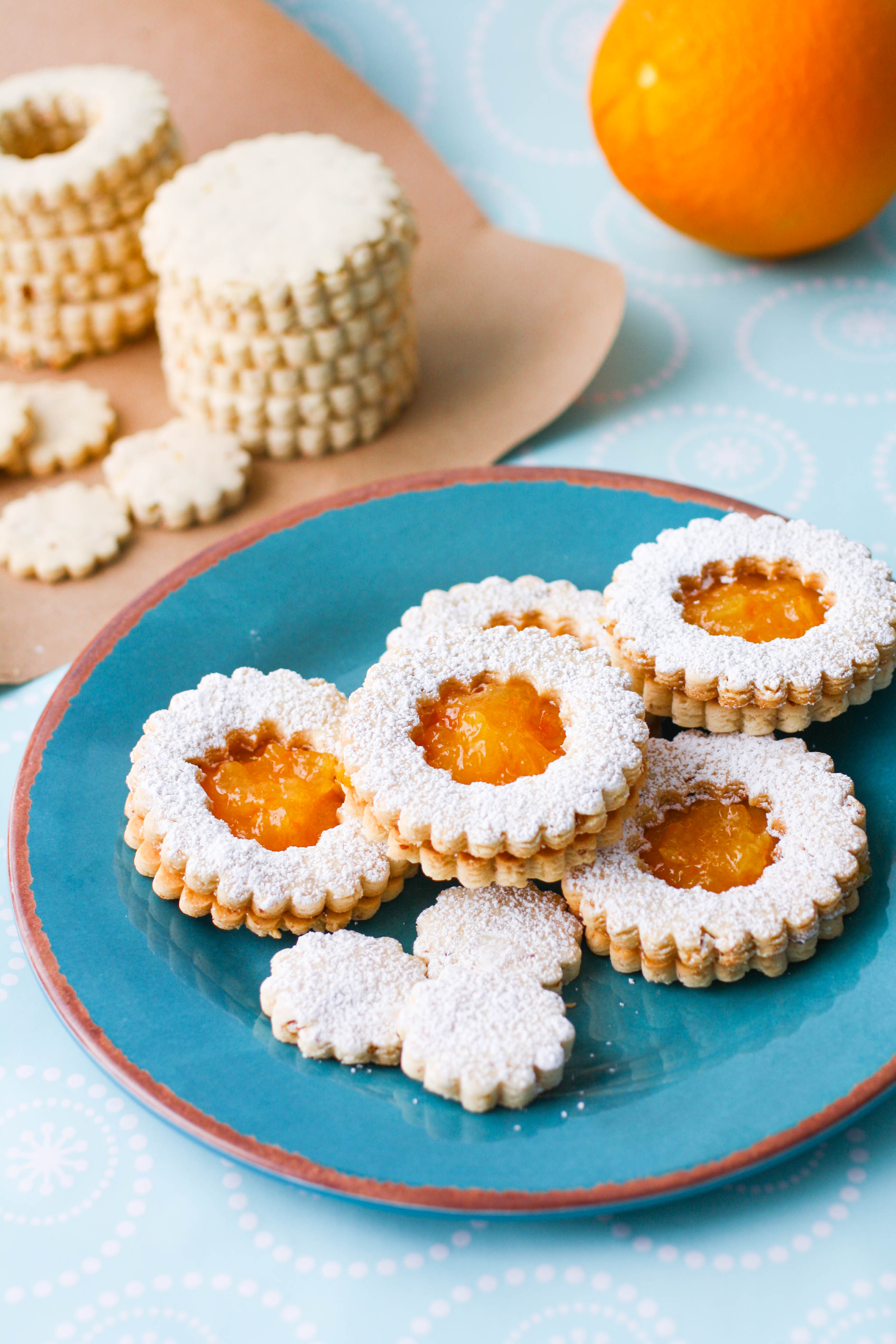 Linzer Cookies with Homemade Marmalade are beautiful for the holiday season. These Linzer Cookies make a great gift, too!