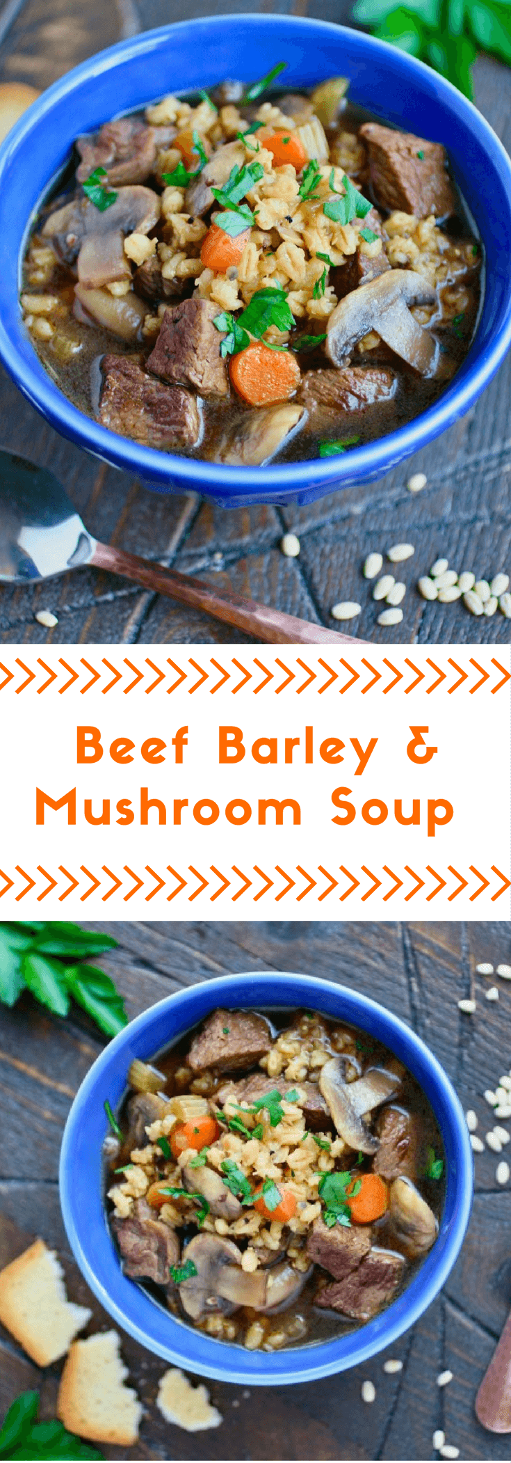 Make a batch of Beef Barley and Mushroom Soup to keep you satisfied!