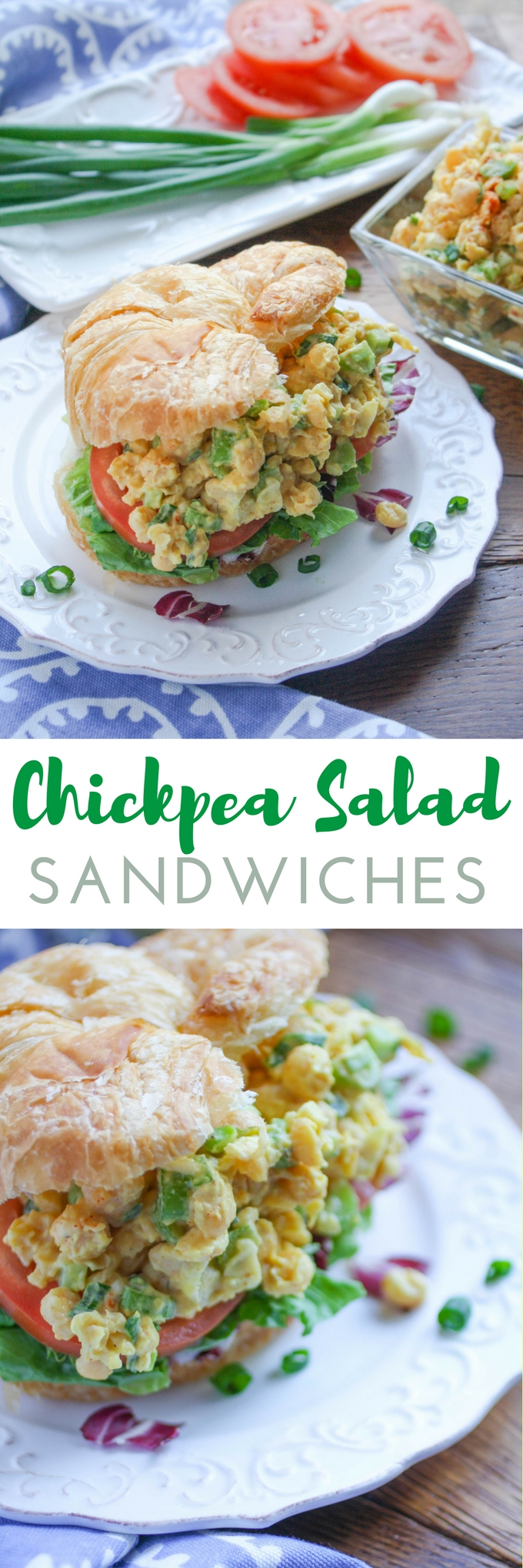 Chickpea Salad Sandwiches are a fabulous vegetarian sandwich great for any meal. You'll love these sandwiches for their big flavor!