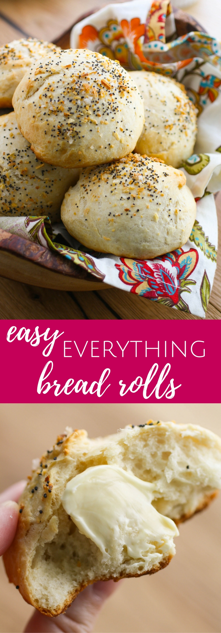 Easy Everything Bread Rolls are the bread rolls you've been looking for! These homemade rolls are a delight, and easy to make, too.