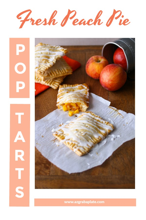 "Fresh Peach Pie ""Pop Tarts"" are a wonderful homemade treat. Enjoy them for breakfast or dessert!"