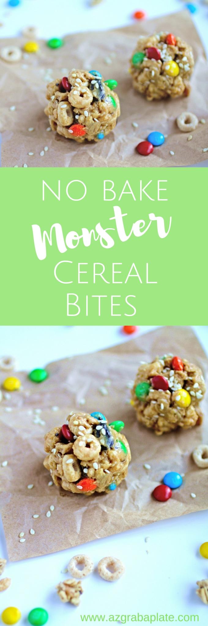 No-Bake Monster Cereal Bites are such a fun treat! You might even have all the ingredients on hand - what a fun snack!