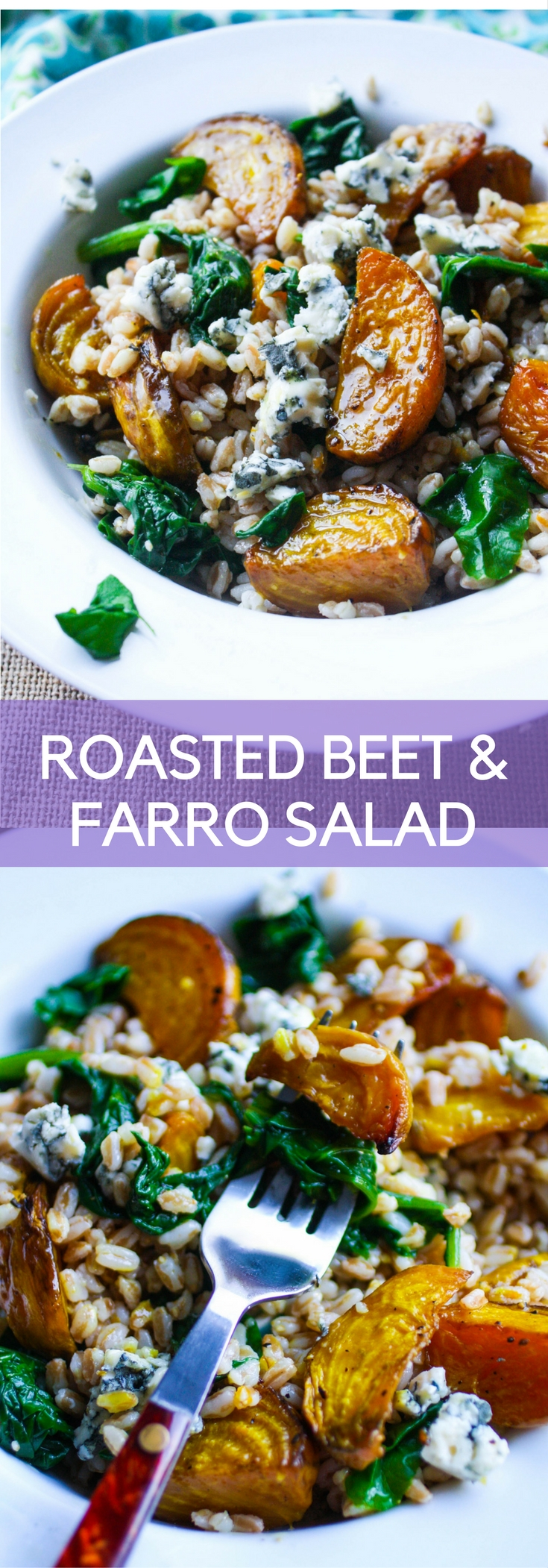 Roasted Beet & Farro Salad is a treat during the winter months. This salad will shine with roasted beets and hearty farro.