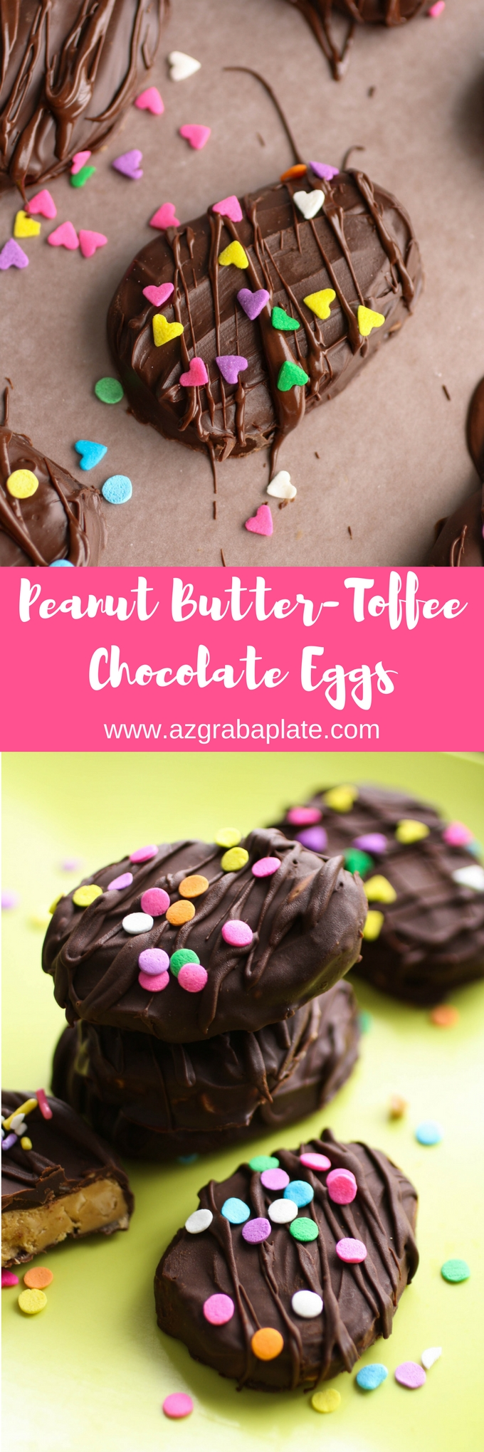 Peanut Butter-Toffee Chocolate Eggs are fun to share! You might also want to keep a few tucked in your freezer to enjoy yourself!